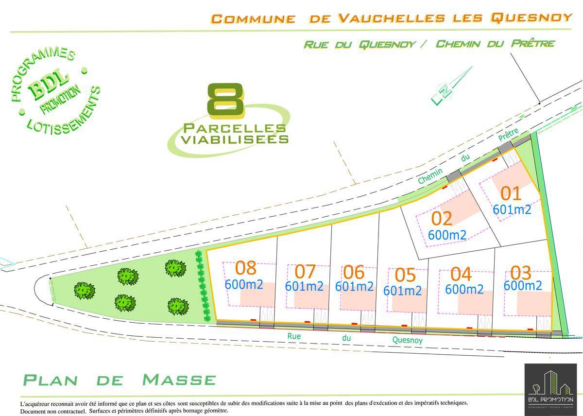 Lotissement à Vauchelles-les-Quesnoy (80)